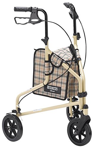 powerful Drive Medical Winnie Lite Supreme Tricycle Aluminum Caster, Tan Plaid