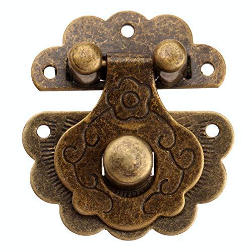 xinxinchaoshi Bisagra 1 unid 40 * 36 mm Caja de Bronce Antiguo Hasp Lock Lock Lock Joyería Caja de Madera Clascar Cerradura Hardware Herramientas bisagra de Puerta