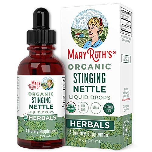 USDA Organic Stinging Nettle Leaf by MaryRuth's | Urtica Dioica Leaf Liquid Herbal | Metabolic & Detox Support | Non-GMO, Vegan, Alcohol Free Tincture,1oz