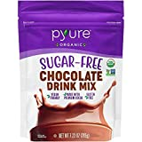 Pyure Organic Chocolate Drink Mix With Cocoa by | Sugar-Free, Keto, 1 Net Carb | 7.23 Oz