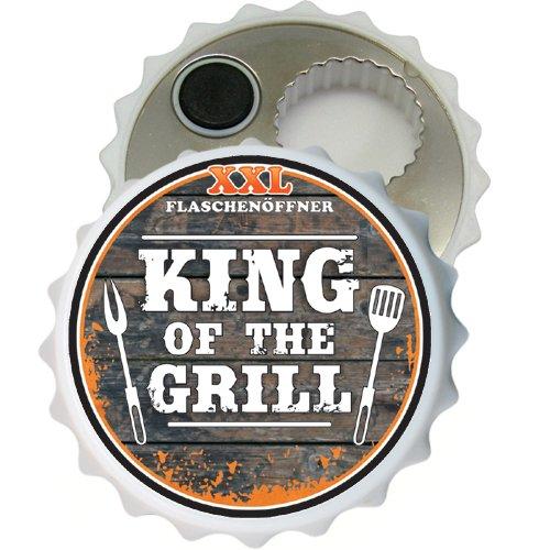 XXL Flaschenöffner XXL Flaschen Öffner Kapselöffner für Männer Männergeschenke zum Geburtstag für viele Anlässe Hobby Kronkorken Bieröffner Bierliebhaber Geburtstagsgeschenke (King of The Grill 32037)