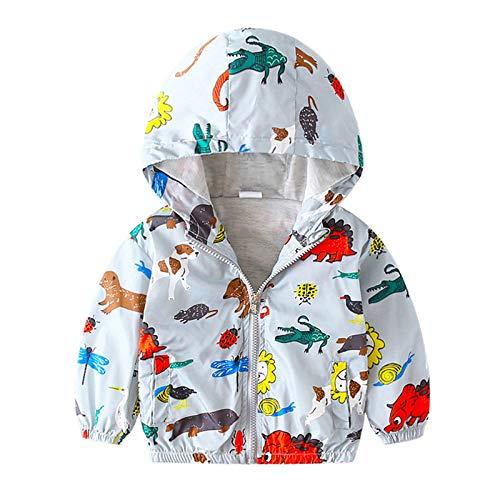 Stickit Graphix Toddler Boys Girls Jacket Thin Long Sleeve Hooded Trench Lightweight Kids Coats Windbreaker Raincoat Outwear