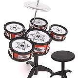 YEES Kids Jazz Drum Set para niños pequeños, batería pedagógica para fomentar la creatividad de los niños, juego de batería para niños de 3 a 5 años