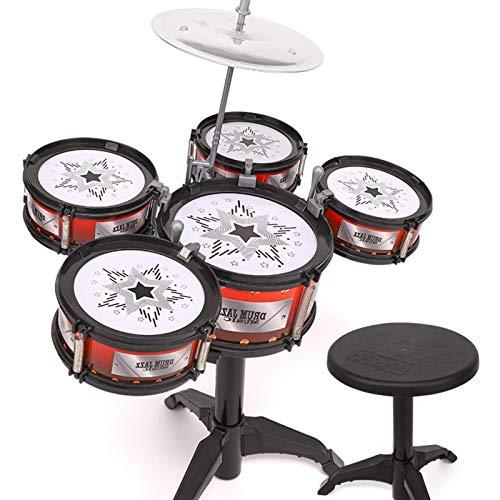 Juego de batería de jazz para niños para niños pequeños, percusión educativa que estimula la creatividad de los niños Juego de batería para niños de 3 a 5 años, regalo ideal para niños y niñas