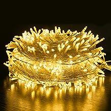 Lichtgordijn, 100 m, warmwit licht, 8 lichtmodi, decoratie voor binnen en buiten, waterdicht IP44, vakantie, feest, bruilo...