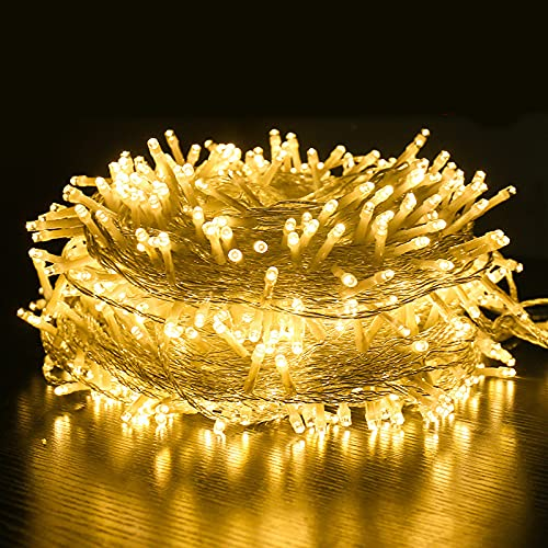 Rideau Lumineux, 100M Guirlande lumineuse, blanc chaud Lumiè