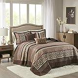 Madison Park Princeton Bedspread Set, Oversize King, Red