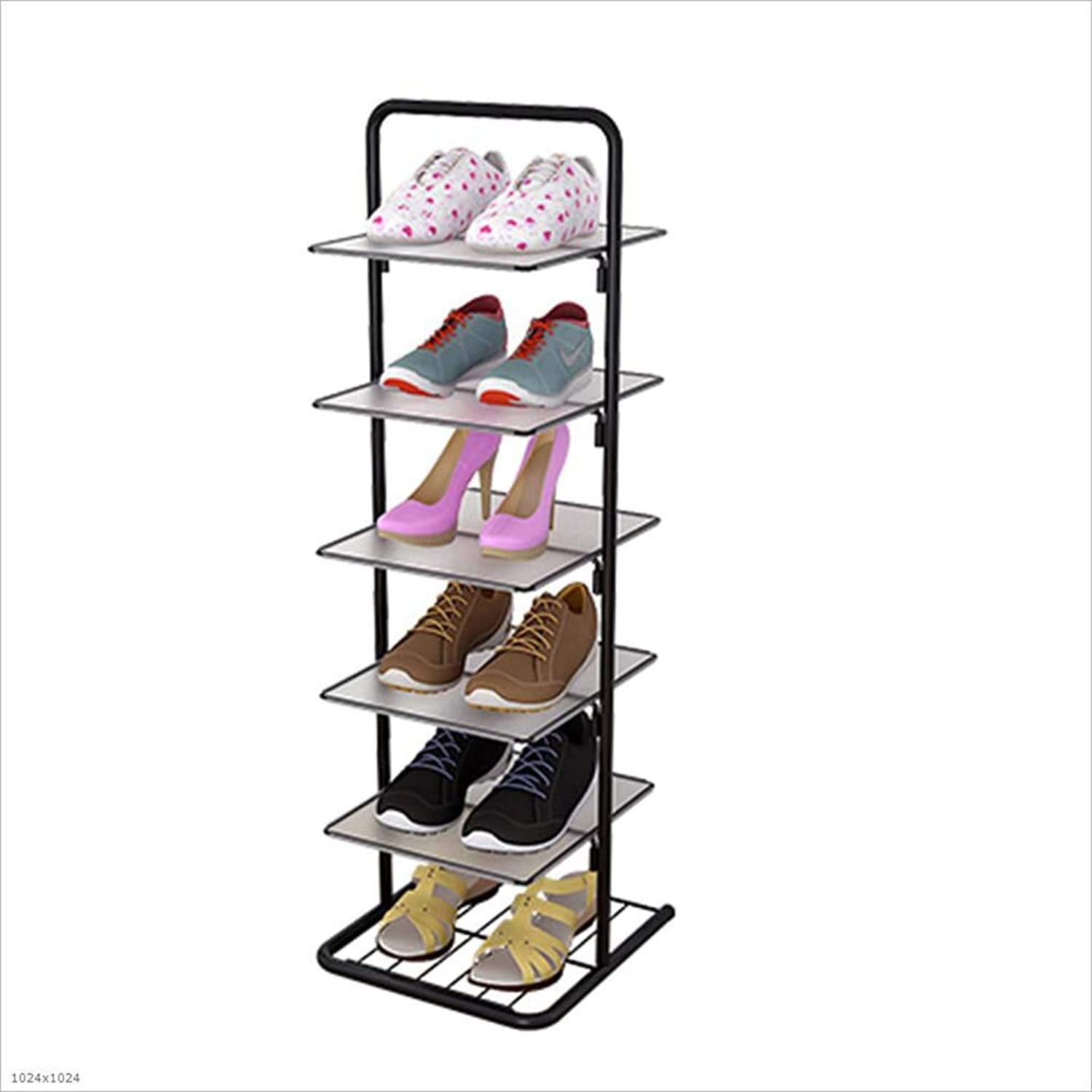 Simple Double shoes Rack Home Economy Multi-Layer shoes Cabinet Living Room Dormitory Small shoes Rack Modern Minimalist,6Tier