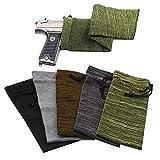 RUBY-Q Handgun Socks, 5pcs 16×4 in Silicone Treated Knit Gun Socks, Breathable Moisture Wicking Gun Sock for Rifle/Shotgun/Pistol/Handgun Anti-Rust
