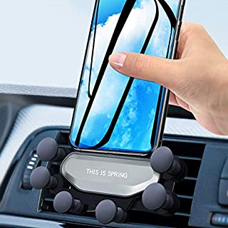 Gravity Car Phone Mount Hangyuan Anti-Slip Car Air Vent Holder Compatible with iPhone Samsung Smartphones Mobile Phone Holder Stand