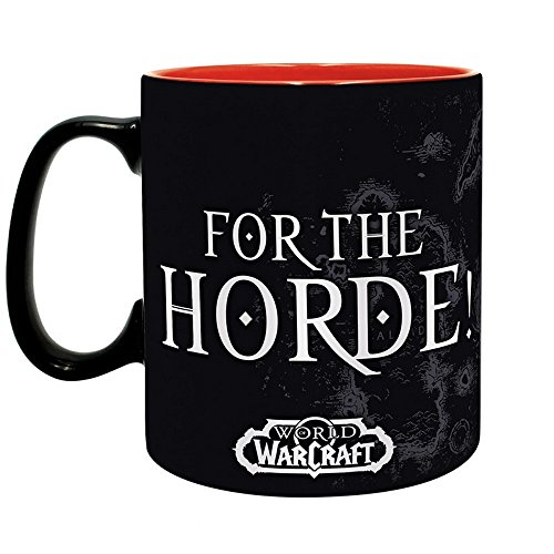 World of Warcraft - Keramik Tasse Riesentasse 460 ml - for The Horde - Logo - Geschenkbox