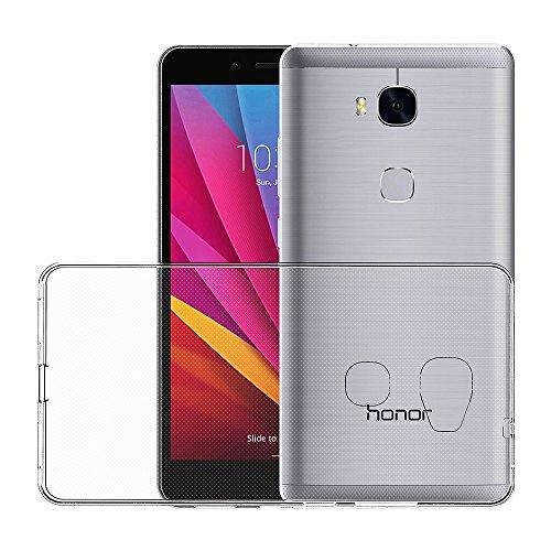 AICEK Huawei Honor 5X Hülle Case, Ultra-Clear Honor 5X Case Silikon Soft TPU Crystal Clear Premium Durchsichtig Handyhülle Schutzhülle Case Backcover Bumper Slimcase für Huawei Honor 5X - 3