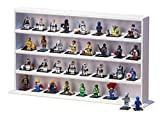 JackCubeDesign Minifigures Display Storage Stand Case Leather Toy Figures Organizer Cabinet(4 Shelves, Carbon Design White) – :MK437C