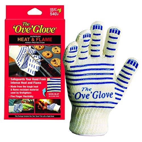 Ove Glove Hot Surface Handler Oven Mitt Glove, Perfect for Kitchen/Grilling, 540 Degree Resistance, As Seen On TV Household Gift, Heat & Flame