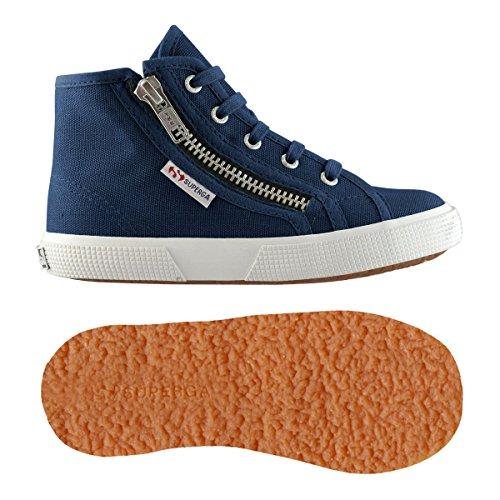 Superga , Baskets mode pour fille - Bleu - Blue mid, 27