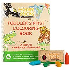 NATURAL NON TOXIC GOODNESS - Honeysticks beeswax crayons are handmade using 100% pure New Zealand beeswax and Food Grade Pigments for color. They are safe for infants, kids and children of all ages. Contains no paraffin wax or cheap fillers. 40 PAGE ...