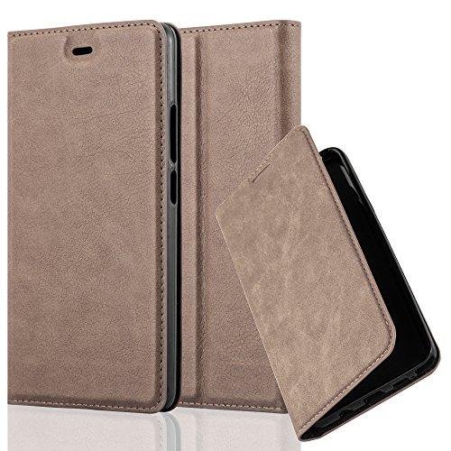 Cadorabo Hülle für ZTE Nubia Z9 MAX - Hülle in Kaffee BRAUN – Handyhülle mit Magnetverschluss, Standfunktion & Kartenfach - Case Cover Schutzhülle Etui Tasche Book Klapp Style