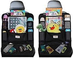 Car Organizer, SURDOCA 4th Generation Enhanced Car Seat Organizer with 10.5'' PVC-Free Tablet Holder, 9 Pockets , Road...