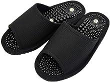 健康サンダル メンズ 磁気付き健康サンダル紳士用L 日本製 足ツボ 刺激 サンダル ブラック