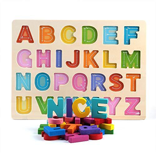 PAKESI Wooden Alphabet Puzzles