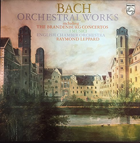 Bach Orchestral Works including The Brandenburg Concertos - I Musici - English Chamber Orchestra - Raymond Leppard - 9 Vinyl & Booklet Box - Phillips