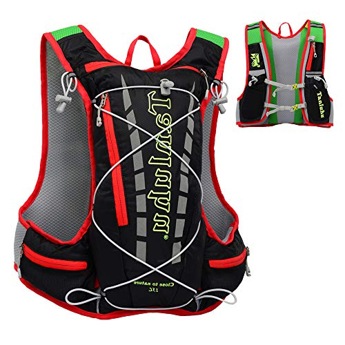 EASY BIG Hydration Pack Backpack Running Hydration Vest for Women and Men Outdoor Hiking, Cycling, Camping with 15L Capacity (Black)
