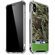 Officially Licensed Seattle Seahawks NFL iPhone X/XS Clear Case Transparent & crystal clear iPhone X/XS Case Thin, compact & slim phone case construction with shock-absorbing air pocket corners. Finished With A Premium Seattle Seahawks Vinyl Decal Ma...