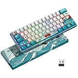 XVX MK61 60% Mechanical Keyboard Wireless, Ultra-Compact 2.4G Rechargeable Gaming Keyboard, RGB...