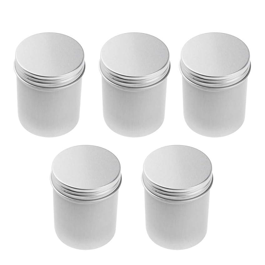 ロータリー近代化するスローIPOTCH アルミ缶 ポット コスメ 化粧品 詰替え容器 缶 ネジ蓋 高級アルミ製 5本 80ミリリットル 汎用