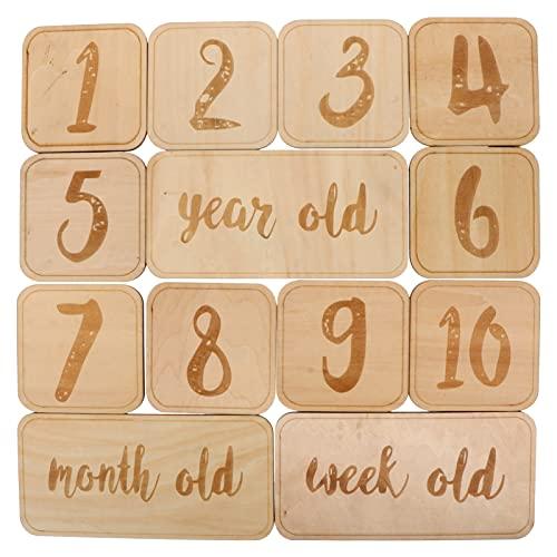 TOYANDONA 1 Juego de Tarjetas de Cumpleaños Mensuales para Bebés 1- 10 Números para Bebés Marcas de Edad para Bebés Tarjetas Fotográficas Tarjetas de Anuncio de Nacimiento para Niños Y