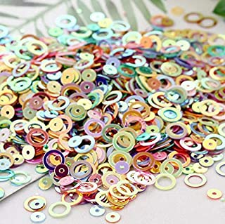 MOPOLIS 5g/10g 6mm Circles Loose Sequins With Golden Tone Paillette DIY Sewing for Dress | Color - Mix-Color