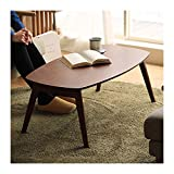 End Table Wooden Folding Coffee Table, Rectangle Side Table Small Tea Table Wooden Furniture,39.4'×21.7'×15.7' Side Table