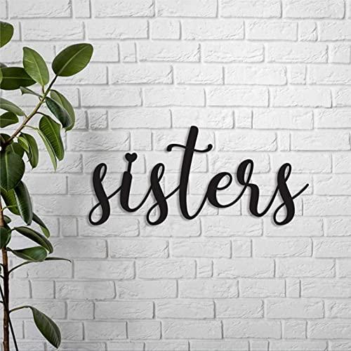 43LenaJon Schwestern Holzschild Geschwister geteiltes Zimmer Schild Big Sister Little Sister Kleinkind Zimmer Kinderzimmer Wanddekoration Zwillingszimmer Kinderzimmer Spielzimmer Schild