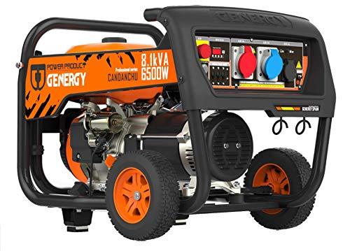 Benzin Stromerzeuger 4 Takt 3-phasig Generator – Profi-Line 8.8kVA 7000W/400V - 8.1kVA 6500W/230V Manuell + E-Start