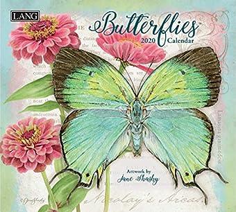 Lang Butterflies 2020 壁掛けカレンダー (20991001898)