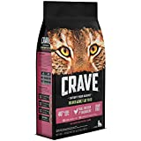 Crave Indoor Grain Free Dry Cat Food with Protein From Chicken and Salmon 2 lb.