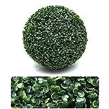 LXUXZ Bola de Césped Artificial de 10cm El Boj Artificial Bola Bolas de Topiario Artificial Fade Protección UV para Decoración de Jardín Planta Artificial Exterior Arbusto de Jardín Planta Imitación