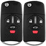ECCPP OUCG8D-620M-AUncut Keyless Entry Remote Control Car Key Fob Shell Case Replacement for 07-12 for M-itsubishi Eclipse Endeavor Endeavor Lancer Outlander OUCG8D-620M-A (Pack of 2)