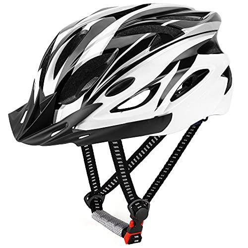 DesignSter Casco Bicicleta Unisex Adulto Unisexo Ajustable 57-63 cm con Visera y Forro Desmontable Especializado para Ciclismo de Montaña Motocicleta 🔥