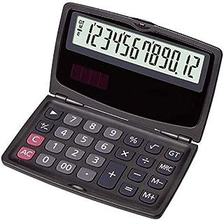 كمبيوتر مكتبي DISS حاسبة مكتب طالب حاسبة محمولة 12 رقمًا شاشة شمسية صغيرة قابلة للطي مزدوجة الطاقة حاسبة علمية إلكترونية و...