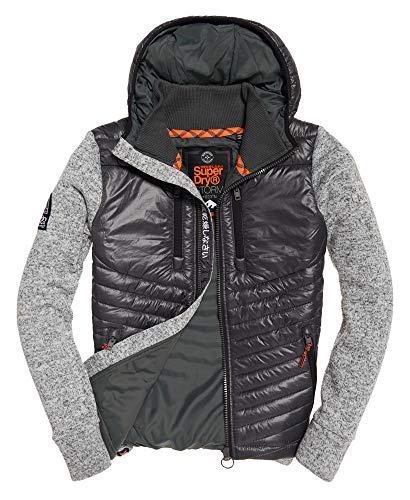 Superdry Mens Storm Hybrid Coat in Light Grey Grit Large