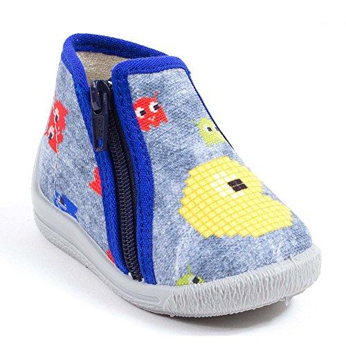 Bellamy - Zapatillas para niño, color azul, Azul (azul), 19 EU