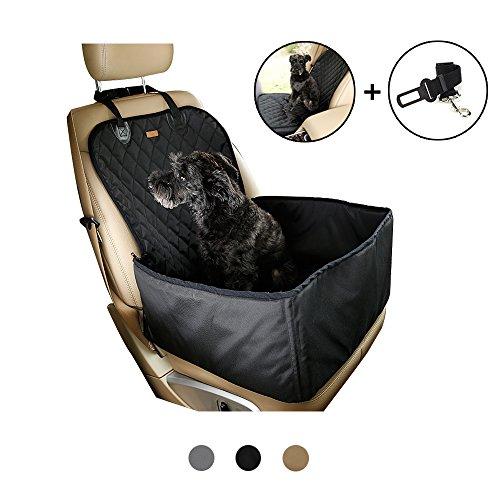 2in 1Pet coprisedile, protezione per cintura, Deluxe impermeabile per cani da viaggio amaca sedile posteriore inclusa, spessore antiscivolo antigraffio Pet secchio rialzo