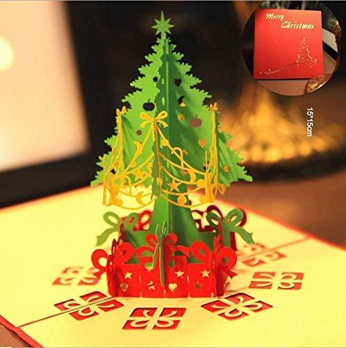 BC Worldwide Ltd Hecho a mano en 3D pop up greeting Navidad árbol de navidad regalo tarjeta de decoración papercraft origami kirigami regalo