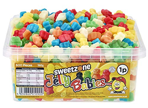 SweetZone 100% Halal Jelly Babies Candy ohne Schweinegelatine 1kg