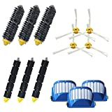 YOKYON Replacement Parts Kit Including Bristle & Flexible Beater Brush & Armed-3 Side Brush & Filters for iRobot Roomba 600 Series 614 620 630 650 651 660 665 680 690 692 Vacuum Accessory
