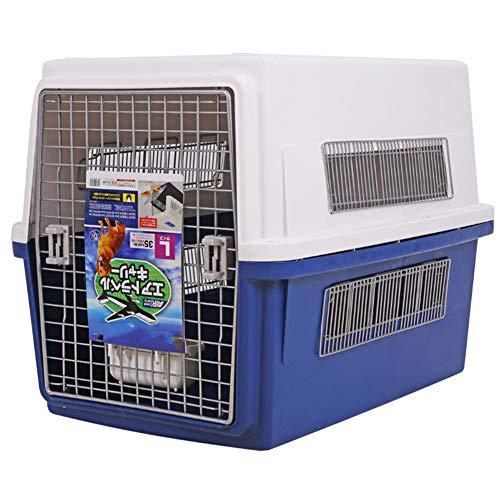 Aida Bz Pet boîte d'air Pet Fournitures Chien Grande boîte d'expédition Portable Petit Chat Portable Avion Pet boîte d'air,Blue,L