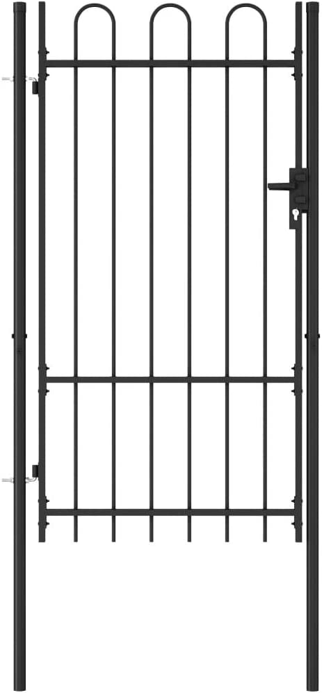 INLIFE Fence Gate Single Door Top Arched Steel with 25% OFF famous 39.4