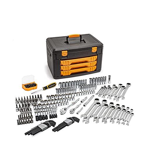GEARWRENCH Mechanics Tool Set in 3 Drawer Storage Box, 232 Piece