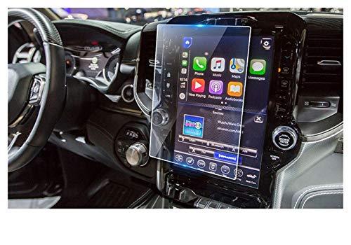XIAOZHIWEN Protector de Pantalla de Vidrio de navegación de automóviles Pegatina Protectora Interior Auto para RAM 1500 2500 3500 UCONNECT 2019 (Color Name : 12inch)